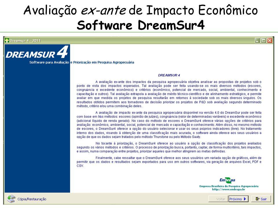 Avaliação ex-ante de Impacto Econômico