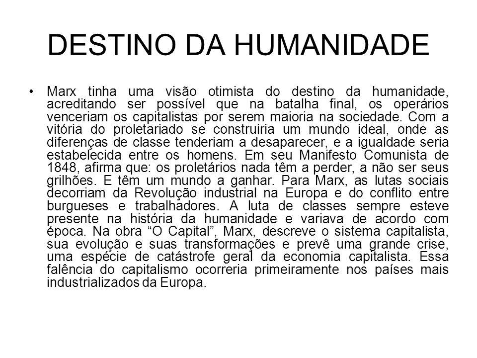 DESTINO DA HUMANIDADE