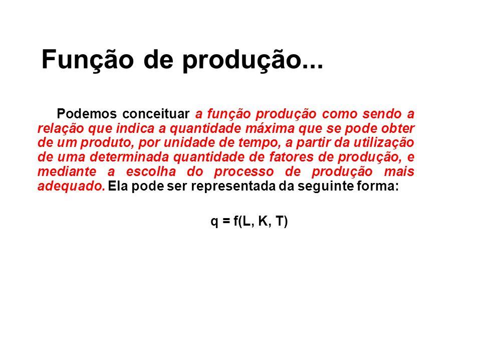 Função de produção...