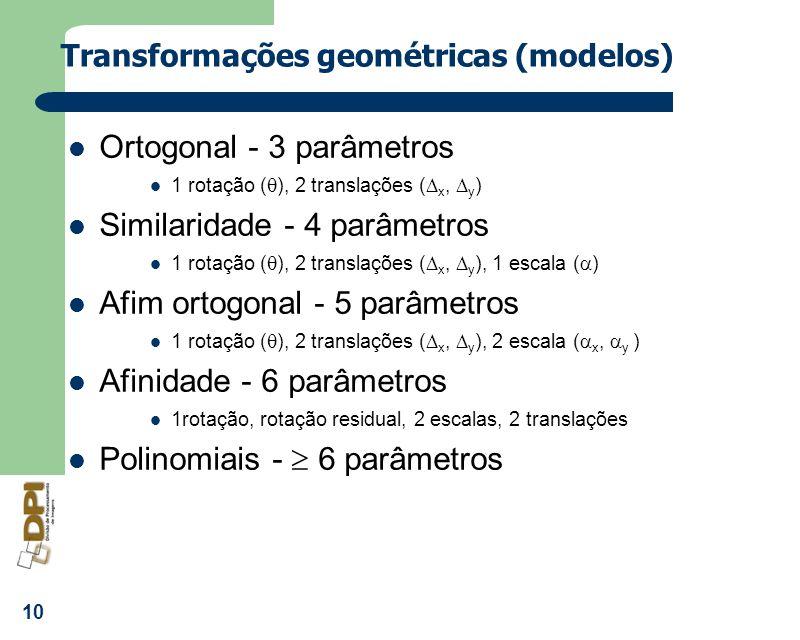 Transformações geométricas (modelos)