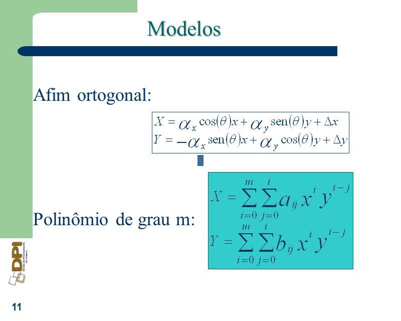 Modelos Afim ortogonal: Polinômio de grau m: