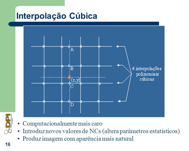 Interpolação Cúbica Computacionalmente mais caro