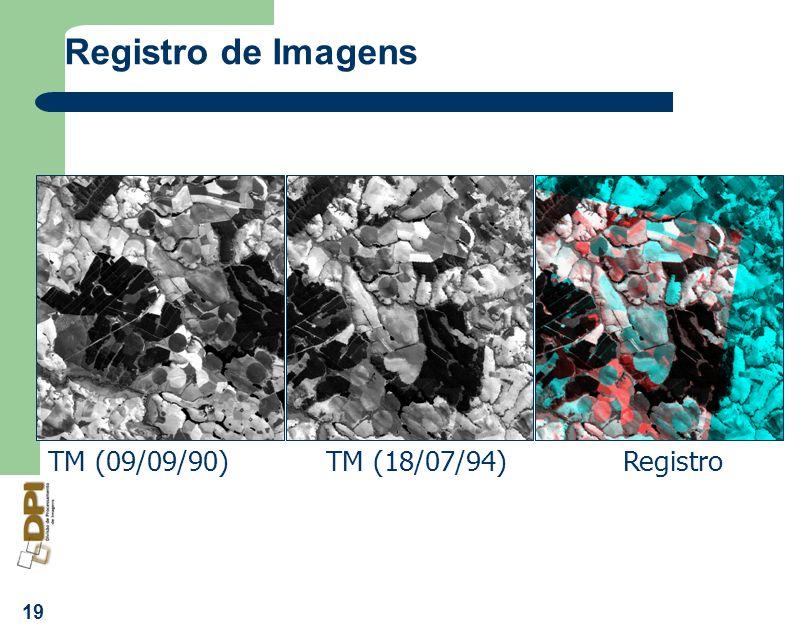 Registro de Imagens TM (09/09/90) TM (18/07/94) Registro