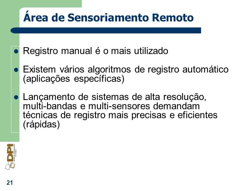 Área de Sensoriamento Remoto