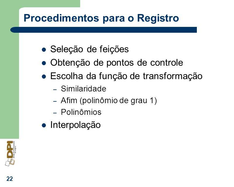 Procedimentos para o Registro