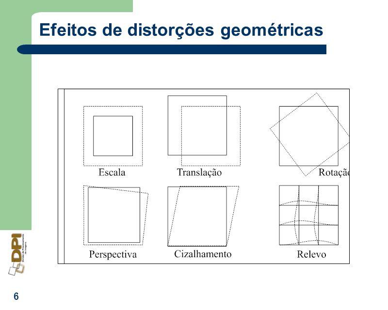 Efeitos de distorções geométricas