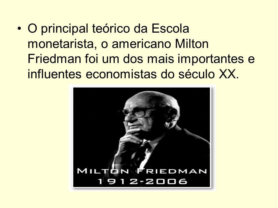 O principal teórico da Escola monetarista, o americano Milton Friedman foi um dos mais importantes e influentes economistas do século XX.
