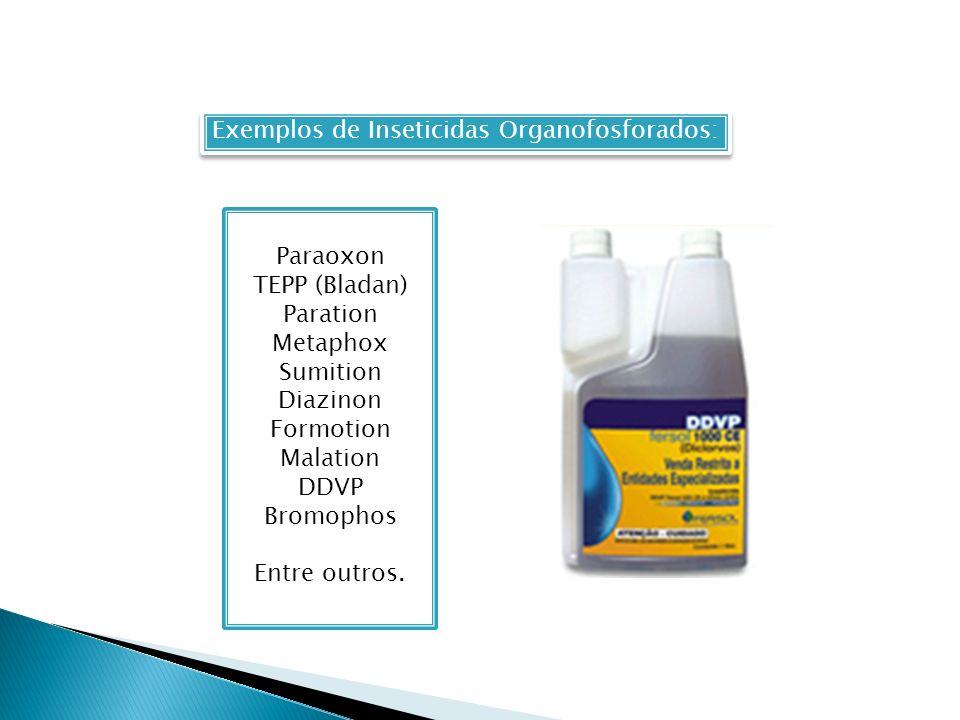 Exemplos de Inseticidas Organofosforados: