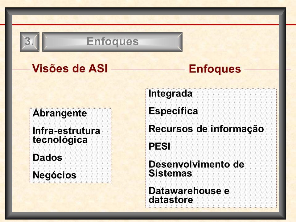 Enfoques 3. Visões de ASI Enfoques Integrada Específica