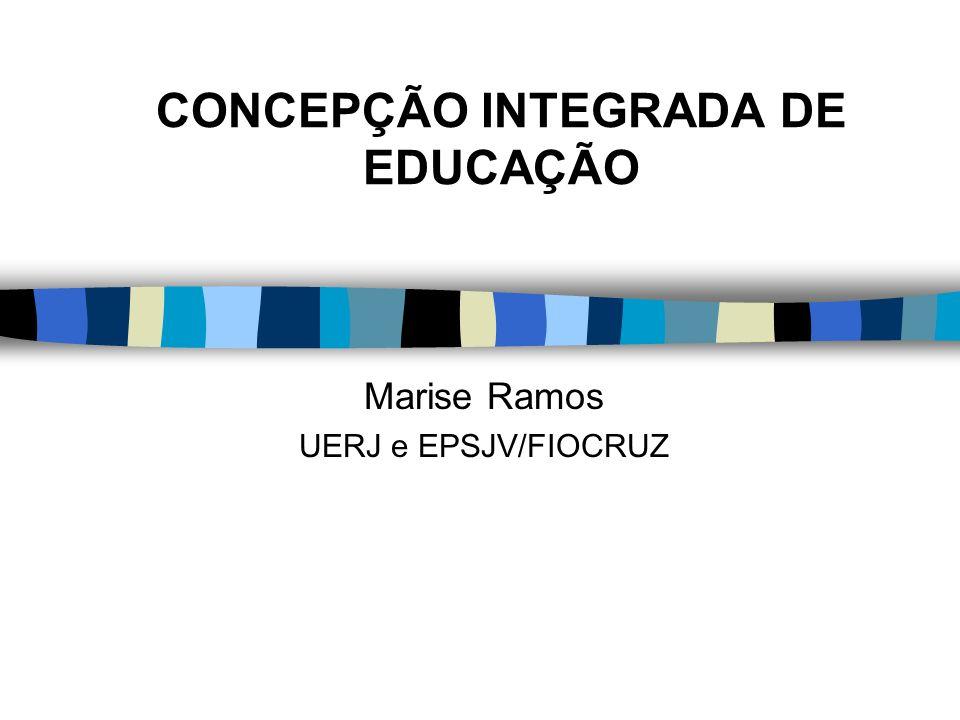 CONCEPÇÃO INTEGRADA DE EDUCAÇÃO