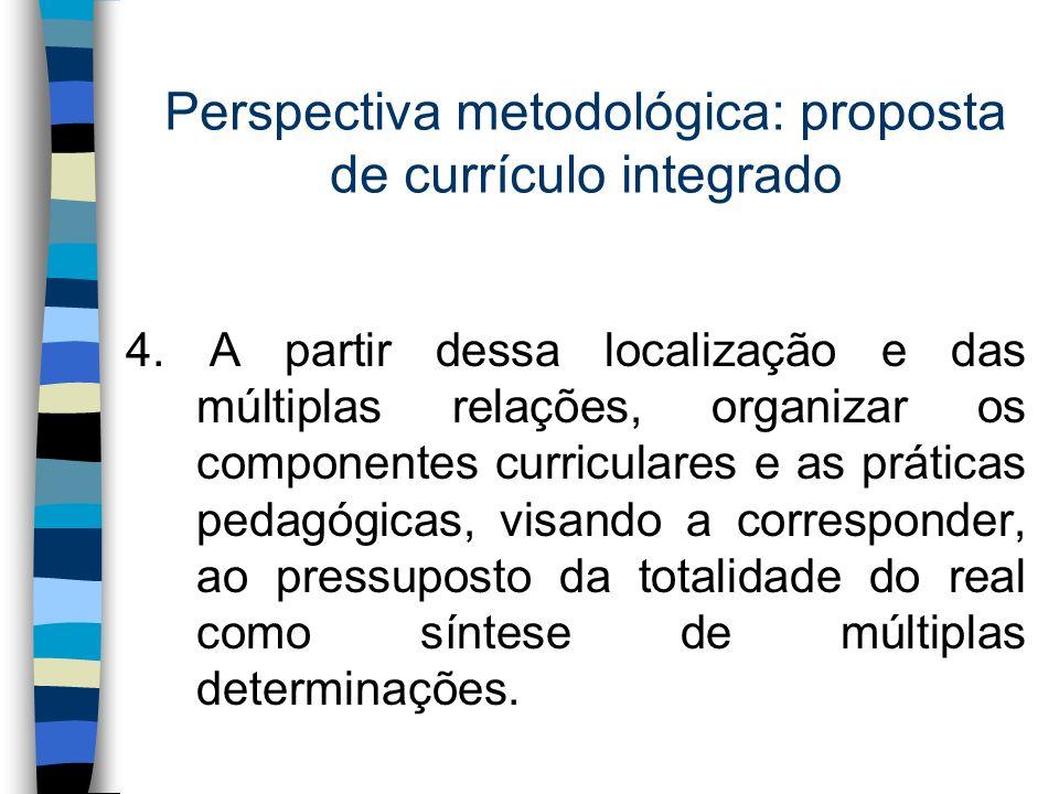 Perspectiva metodológica: proposta de currículo integrado
