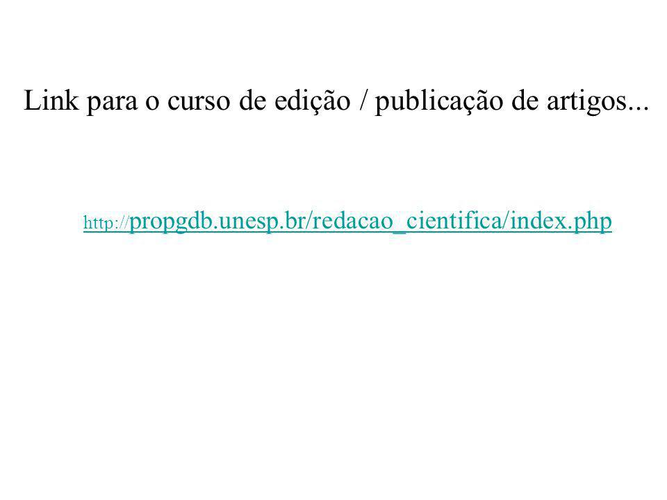 Link para o curso de edição / publicação de artigos...