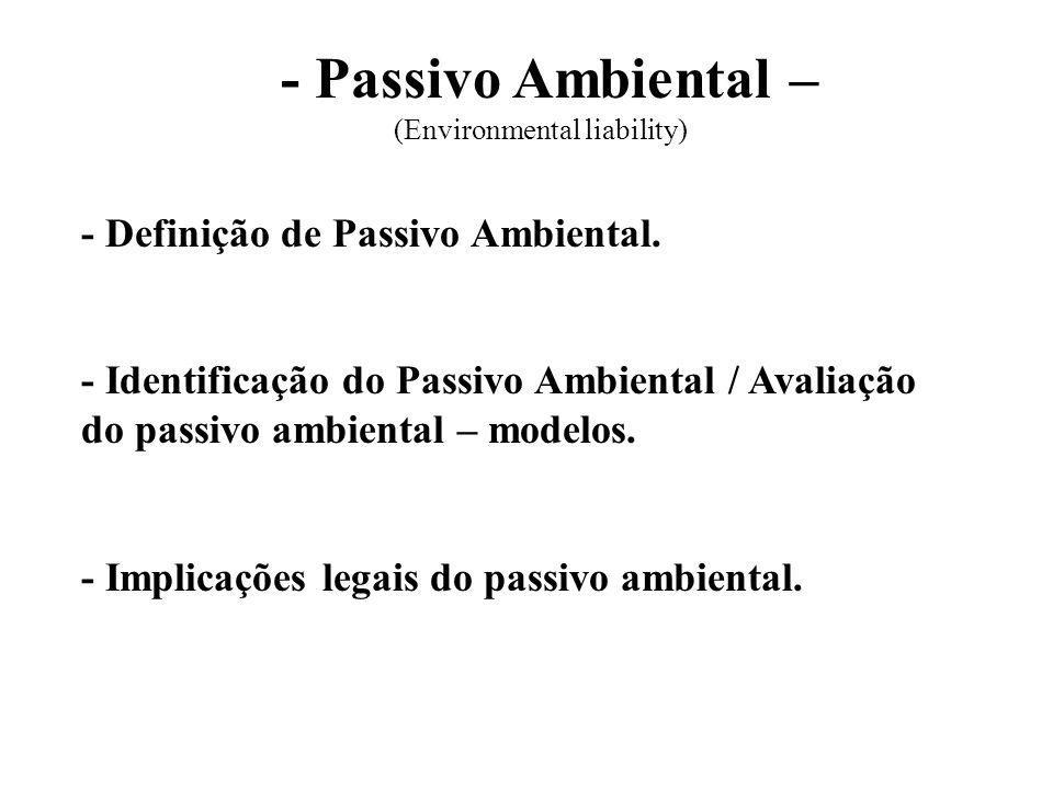 (Environmental liability)