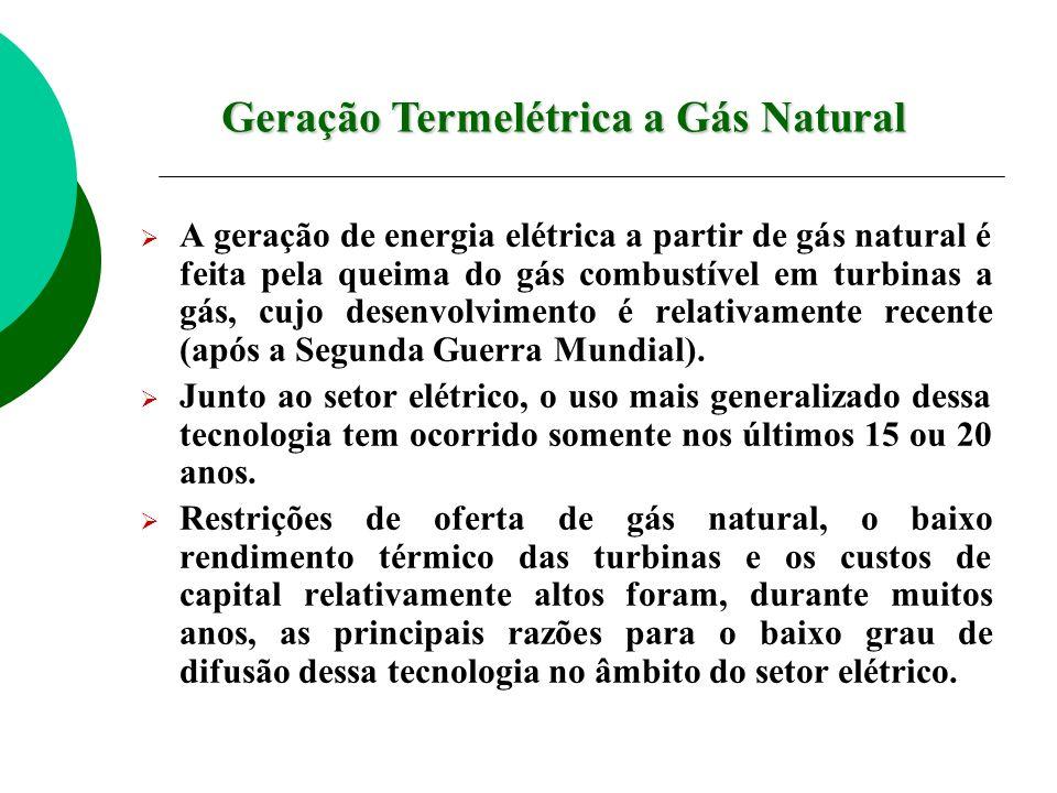 Geração Termelétrica a Gás Natural