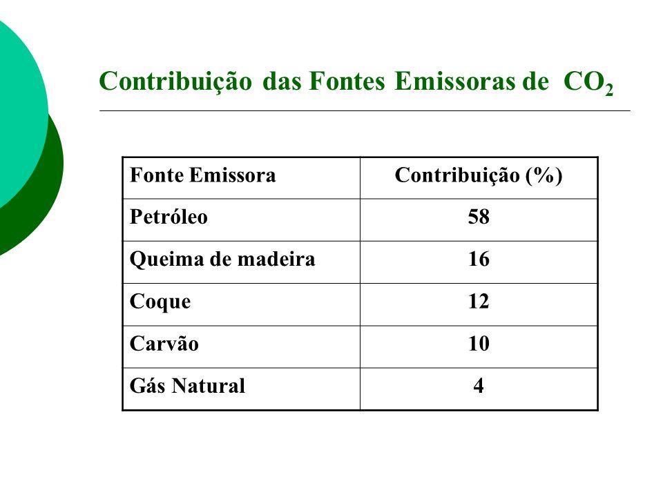 Contribuição das Fontes Emissoras de CO2