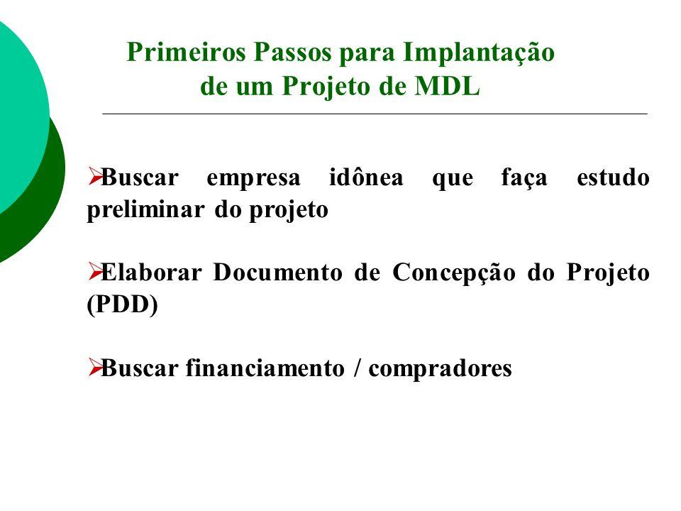 Primeiros Passos para Implantação de um Projeto de MDL