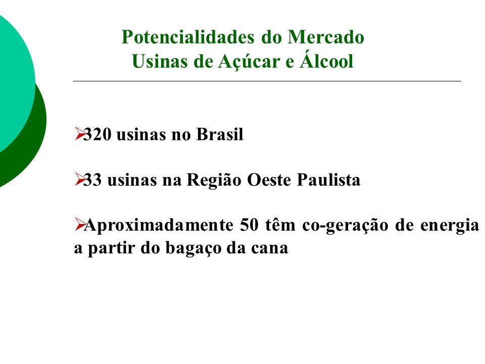Potencialidades do Mercado Usinas de Açúcar e Álcool