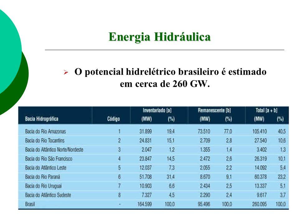 O potencial hidrelétrico brasileiro é estimado