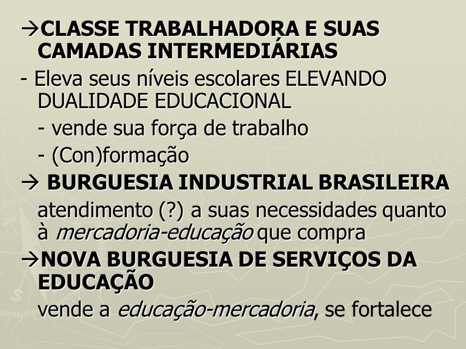 CLASSE TRABALHADORA E SUAS CAMADAS INTERMEDIÁRIAS