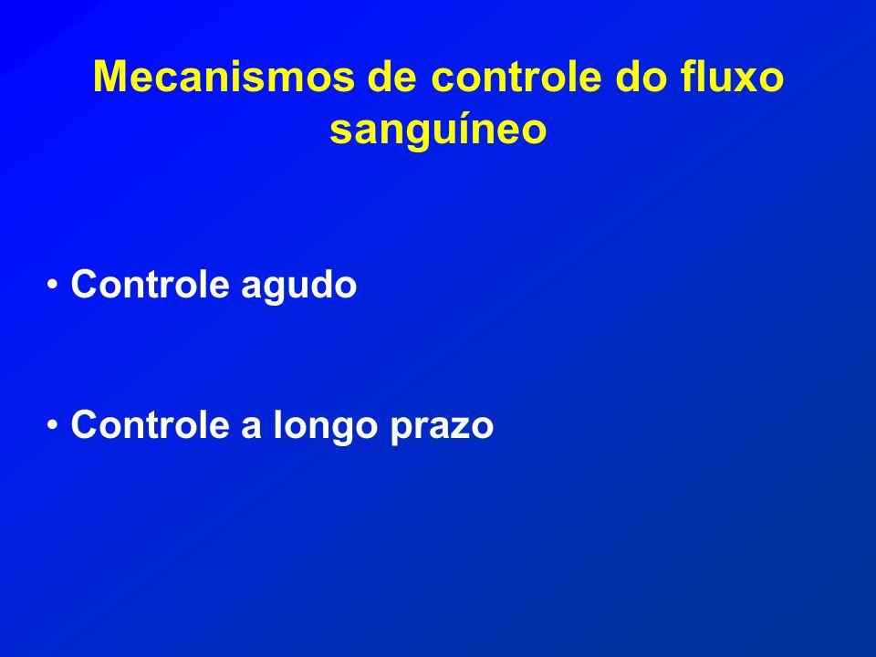 Mecanismos de controle do fluxo sanguíneo
