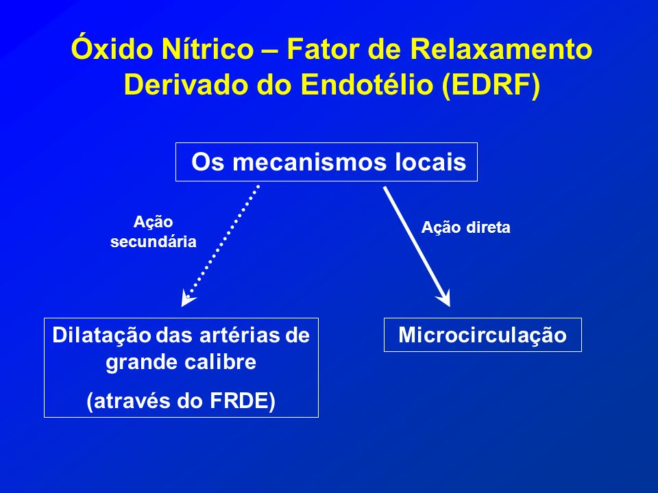 Óxido Nítrico – Fator de Relaxamento Derivado do Endotélio (EDRF)