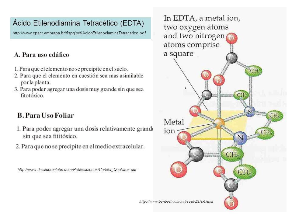 Ácido Etilenodiamina Tetracético (EDTA)
