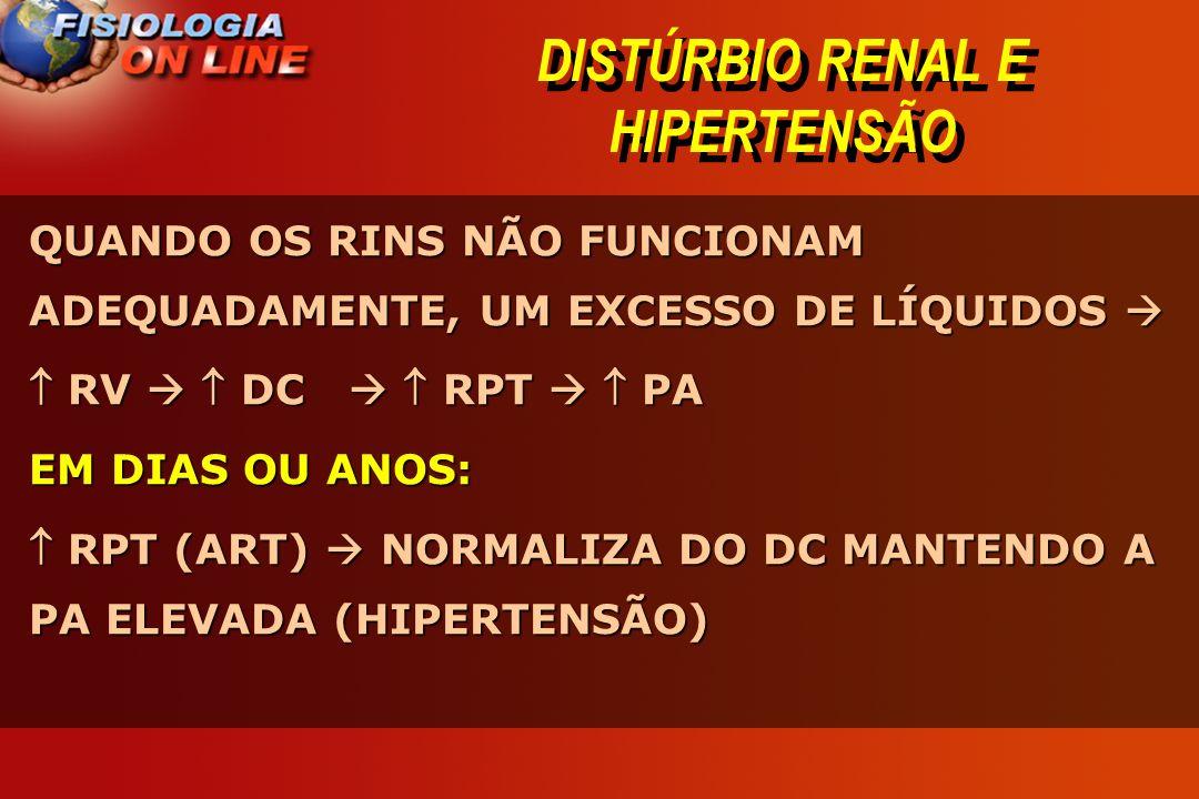 DISTÚRBIO RENAL E HIPERTENSÃO