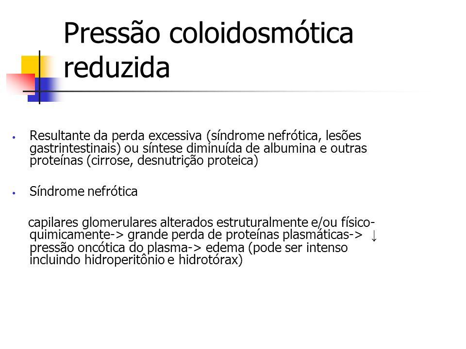 Pressão coloidosmótica reduzida