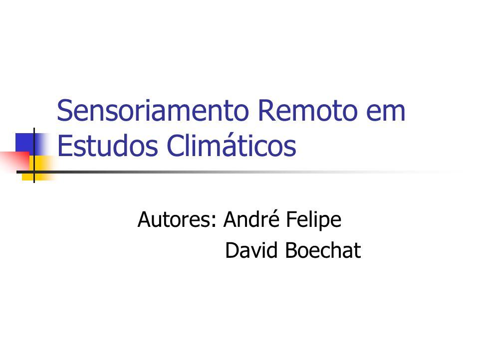 Sensoriamento Remoto em Estudos Climáticos
