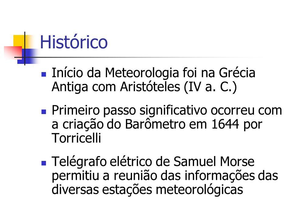 HistóricoInício da Meteorologia foi na Grécia Antiga com Aristóteles (IV a. C.)