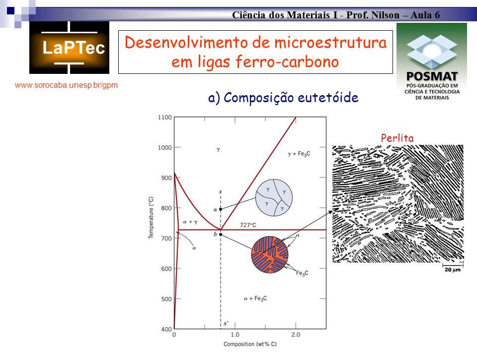 Desenvolvimento de microestrutura em ligas ferro-carbono
