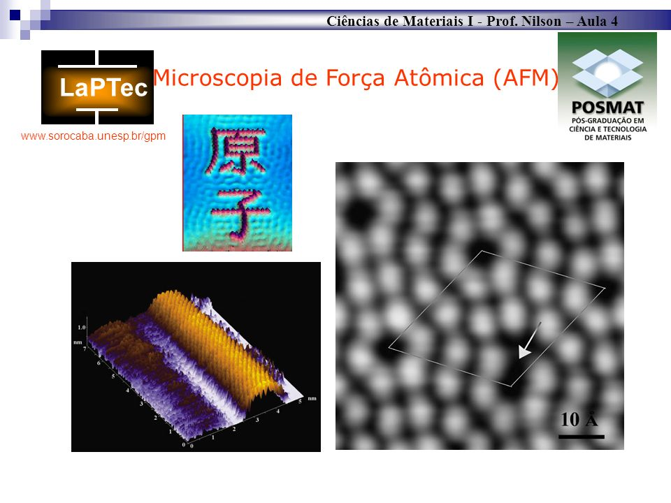 Microscopia de Força Atômica (AFM)