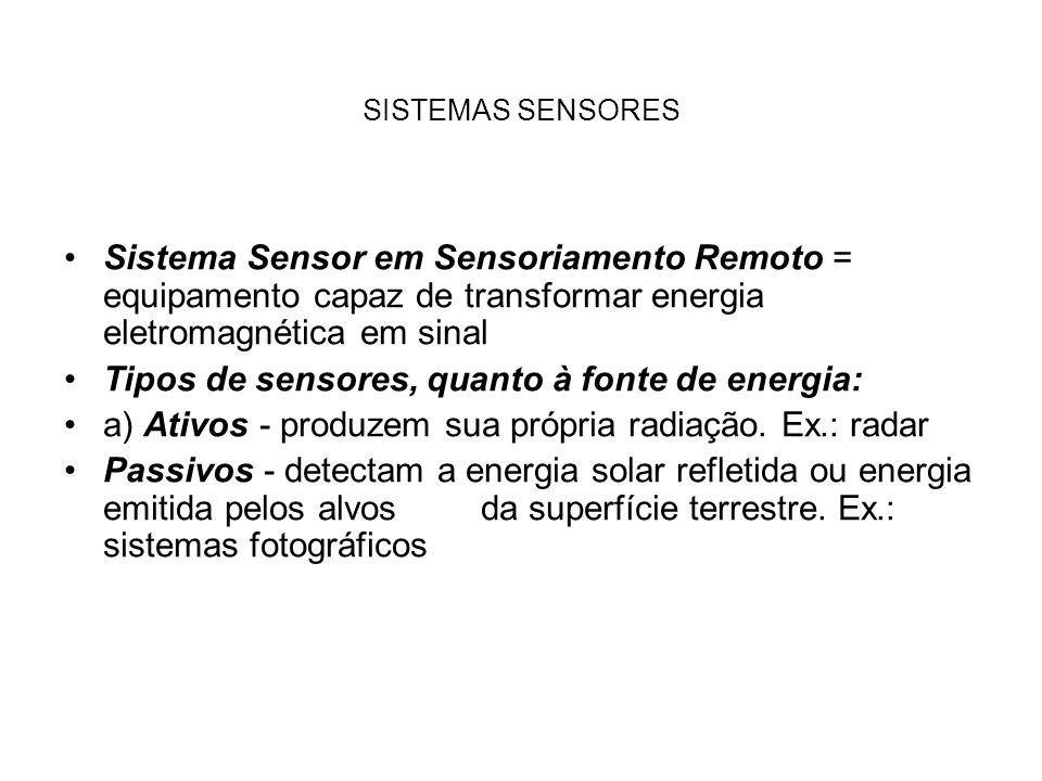 Tipos de sensores, quanto à fonte de energia: