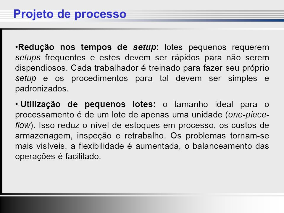 Projeto de processo