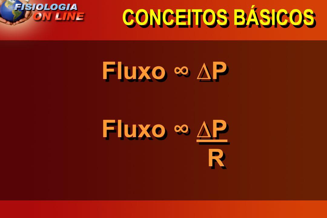 CONCEITOS BÁSICOS Fluxo ∞ ∆P R