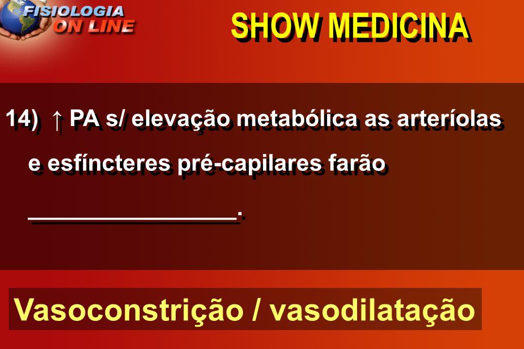 SHOW MEDICINA Vasoconstrição / vasodilatação
