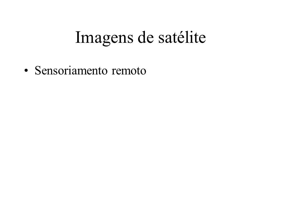Imagens de satélite Sensoriamento remoto