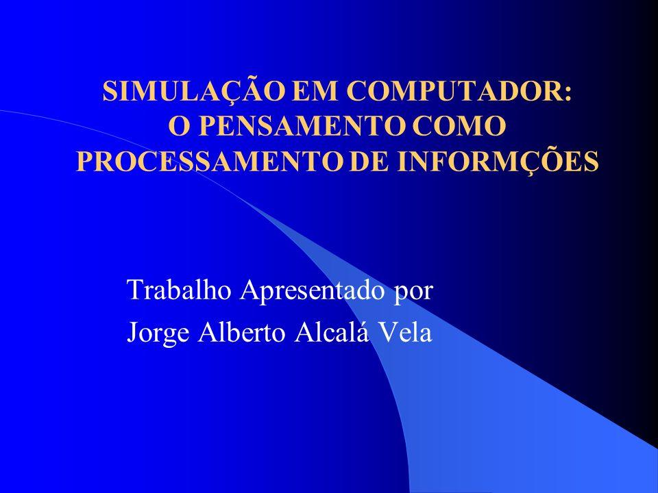 SIMULAÇÃO EM COMPUTADOR: O PENSAMENTO COMO PROCESSAMENTO DE INFORMÇÕES
