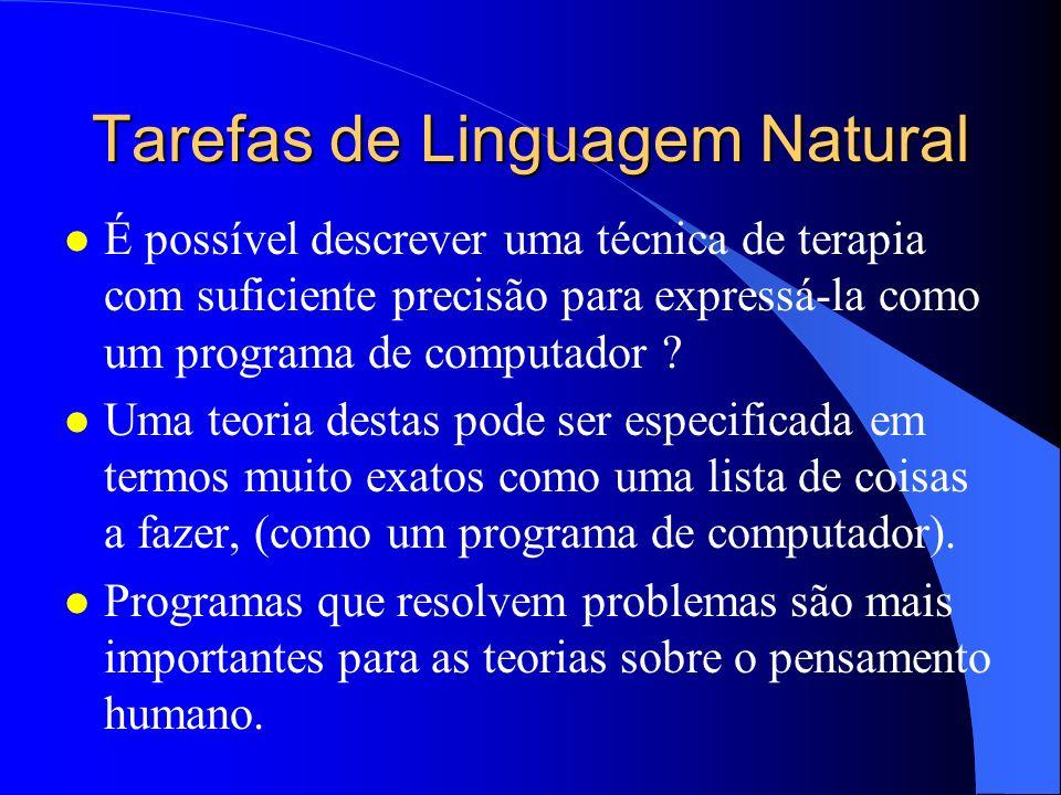 Tarefas de Linguagem Natural