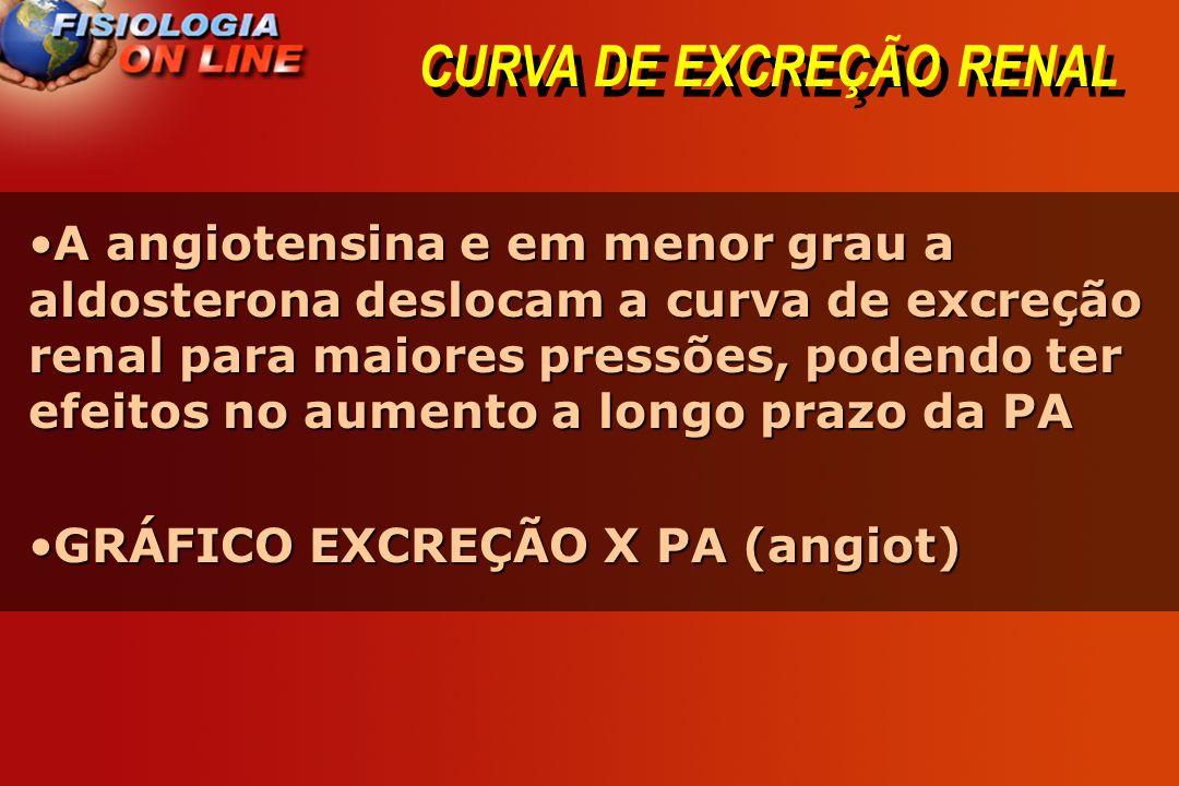 CURVA DE EXCREÇÃO RENAL