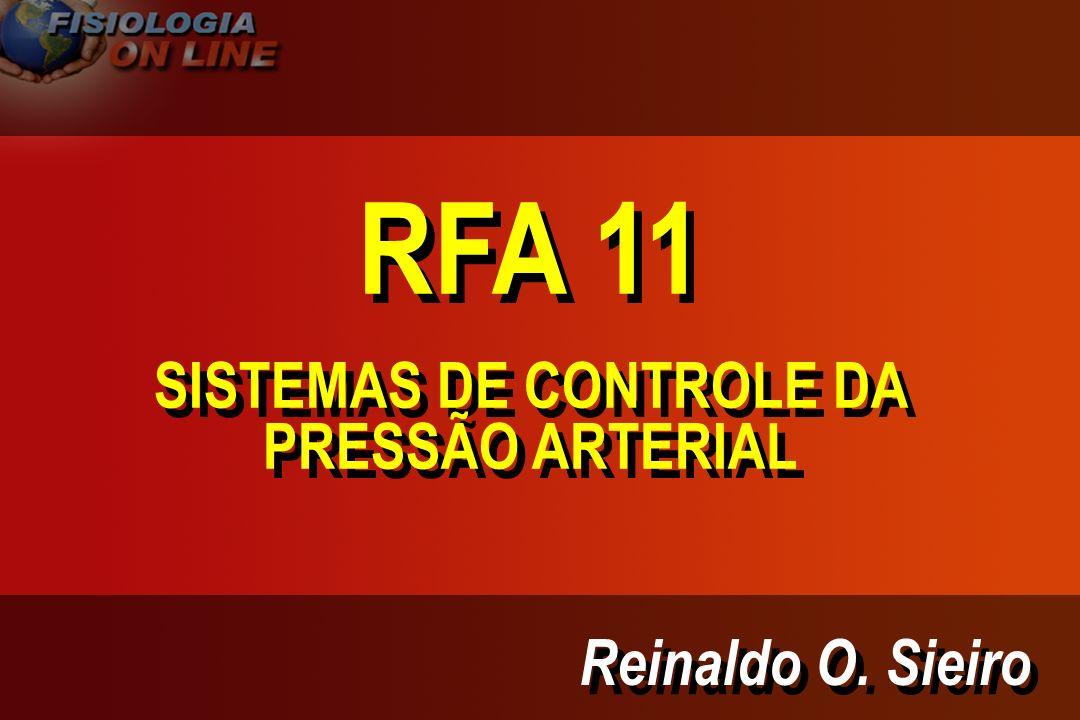 SISTEMAS DE CONTROLE DA PRESSÃO ARTERIAL