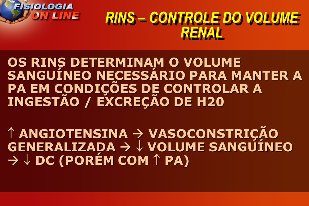 RINS – CONTROLE DO VOLUME RENAL