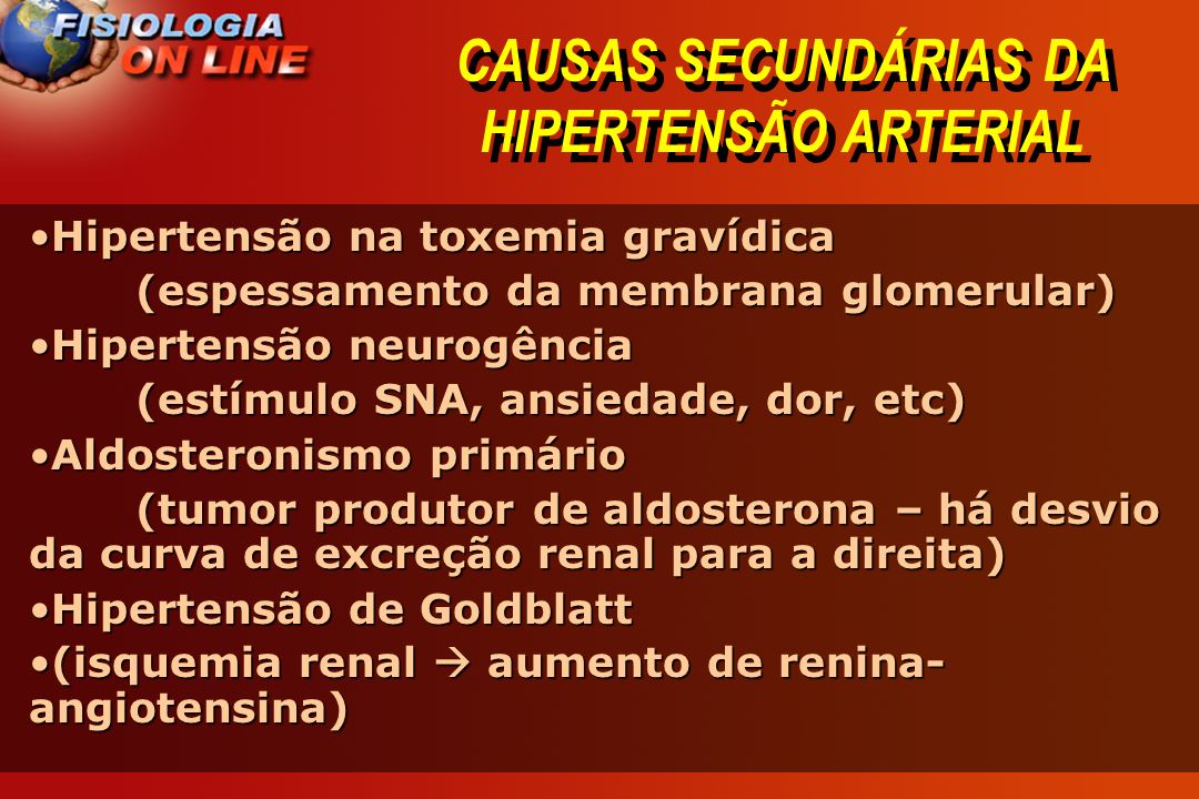 CAUSAS SECUNDÁRIAS DA HIPERTENSÃO ARTERIAL