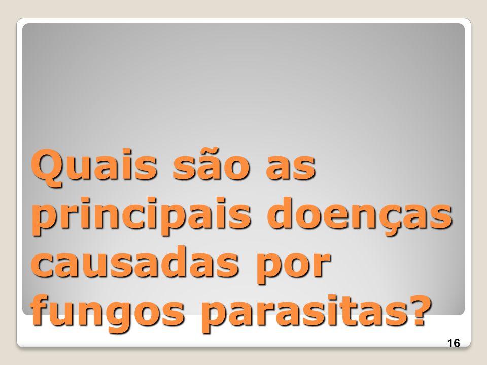 Quais são as principais doenças causadas por fungos parasitas