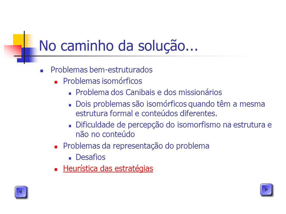 No caminho da solução... Problemas bem-estruturados