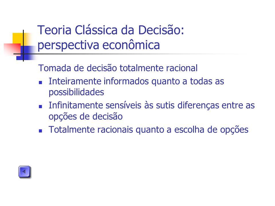 Teoria Clássica da Decisão: perspectiva econômica