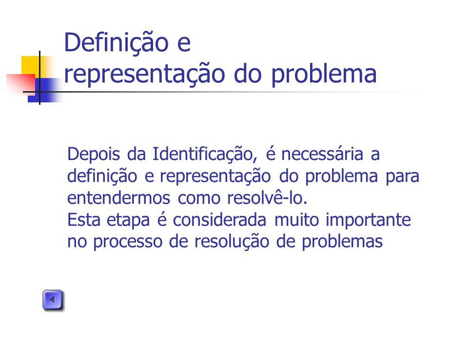 Definição e representação do problema