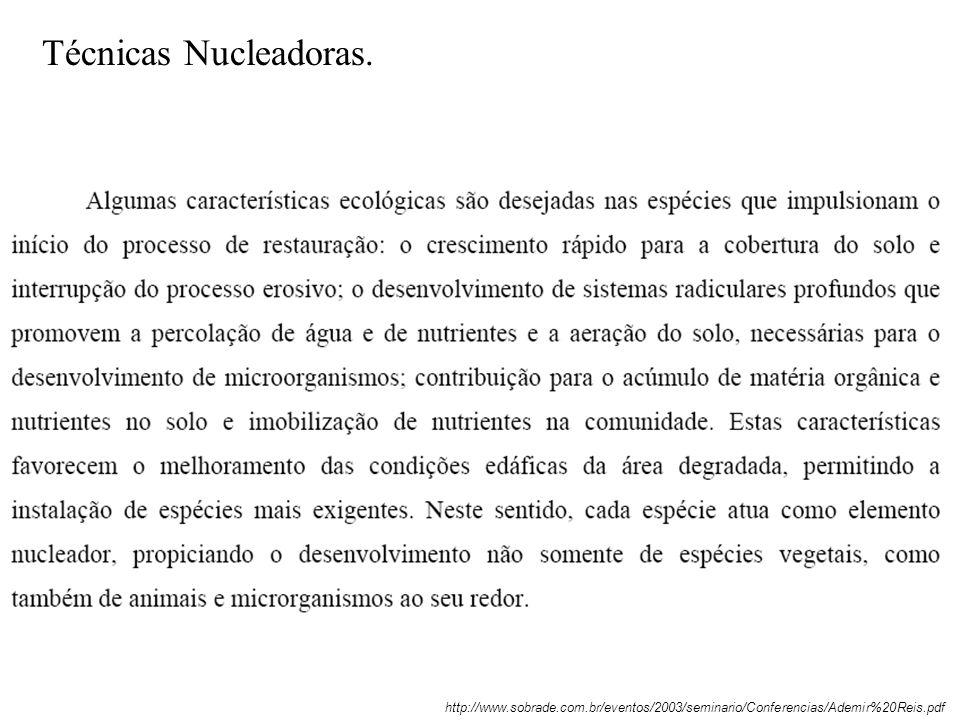 Técnicas Nucleadoras.http://www.sobrade.com.br/eventos/2003/seminario/Conferencias/Ademir%20Reis.pdf.