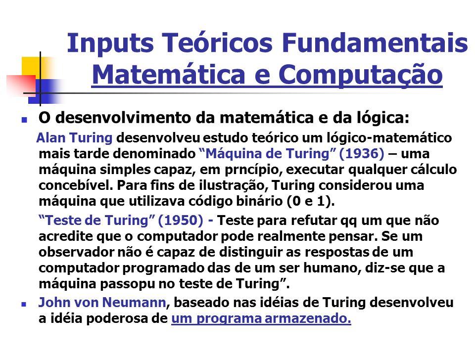 Inputs Teóricos Fundamentais Matemática e Computação