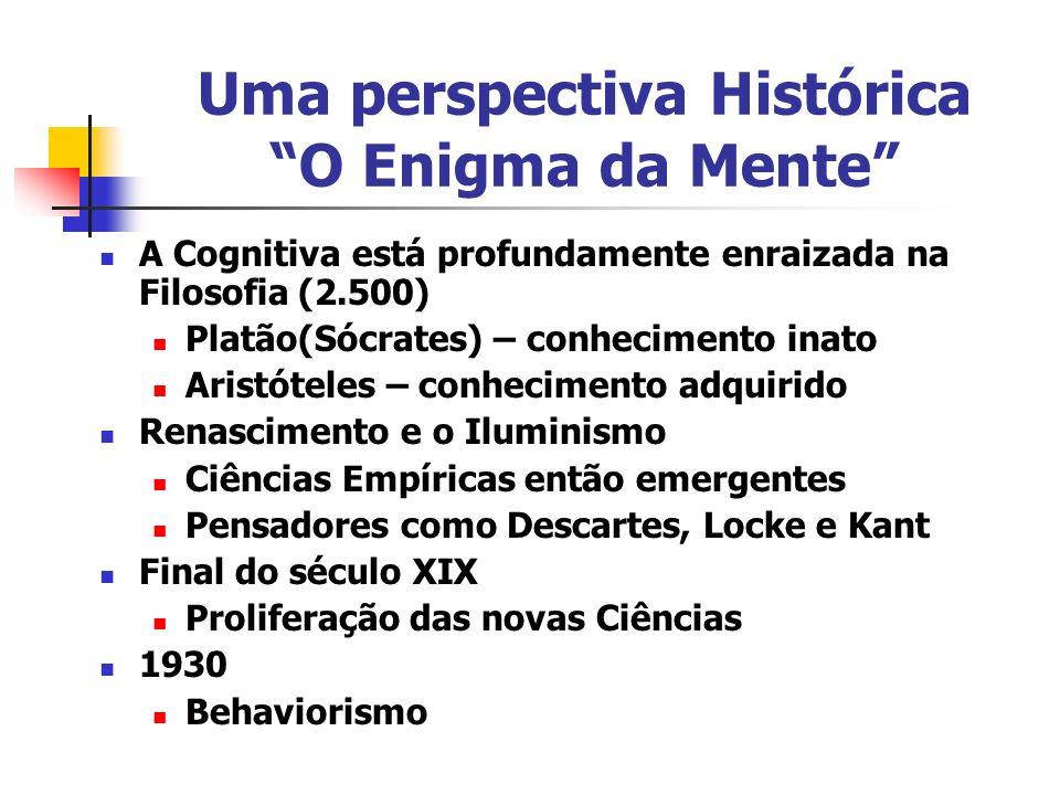 Uma perspectiva Histórica O Enigma da Mente